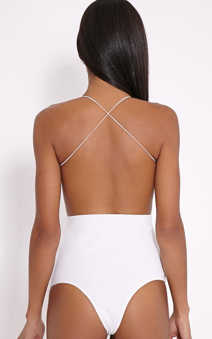 Raye Cream Cross Back Bodysuit 5
