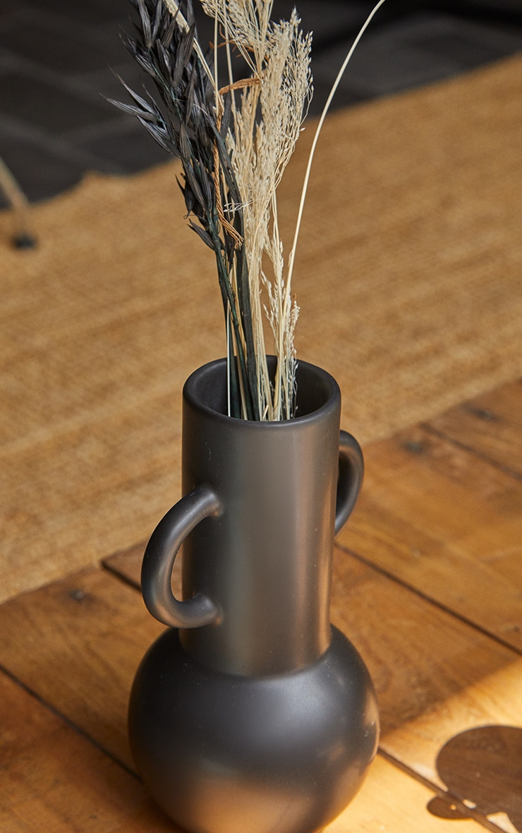 Black Large Amphora Vase 2