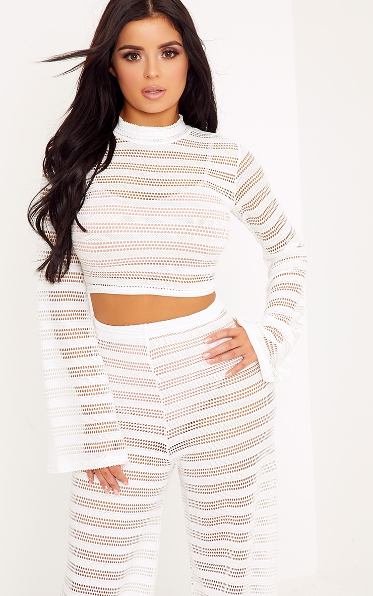 Shape Edyn Cream Lace Crop Top 1