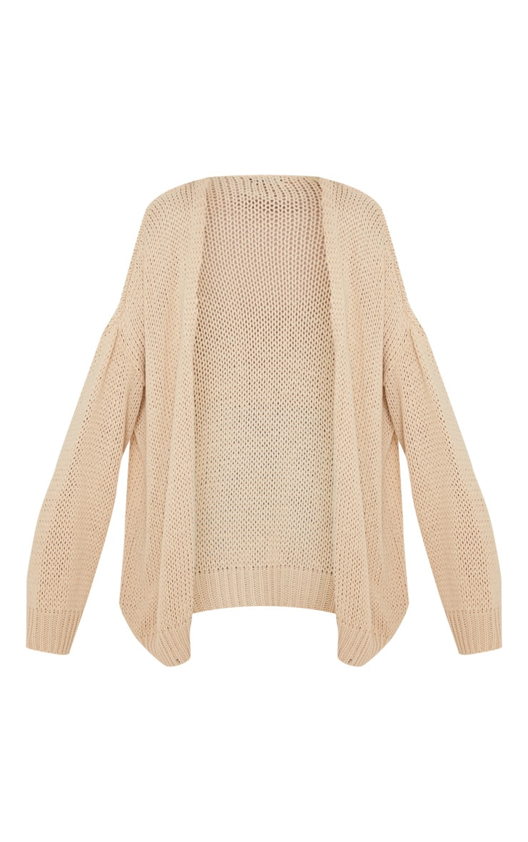 Camel Loose Knit Cardigan  3