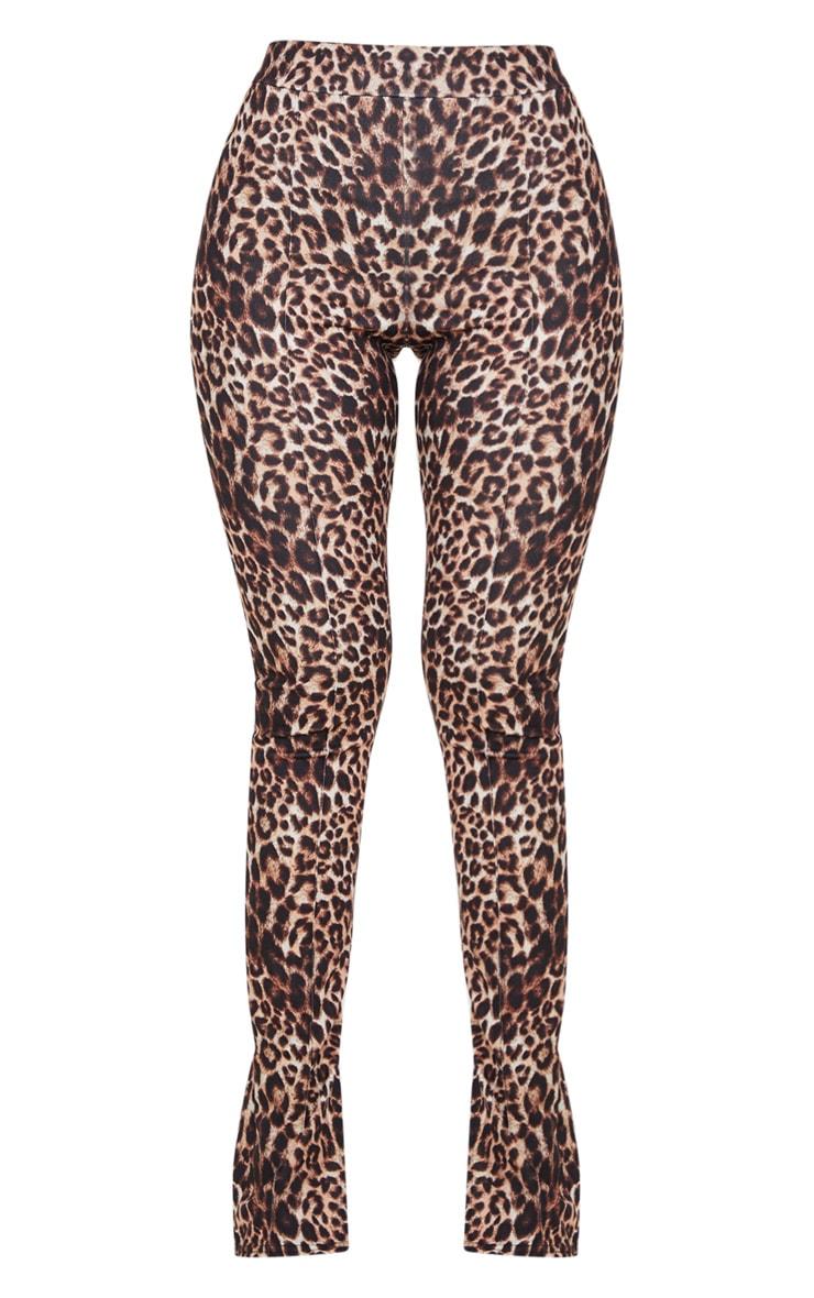Stone Leopard Split Hem Skinny Pants 3