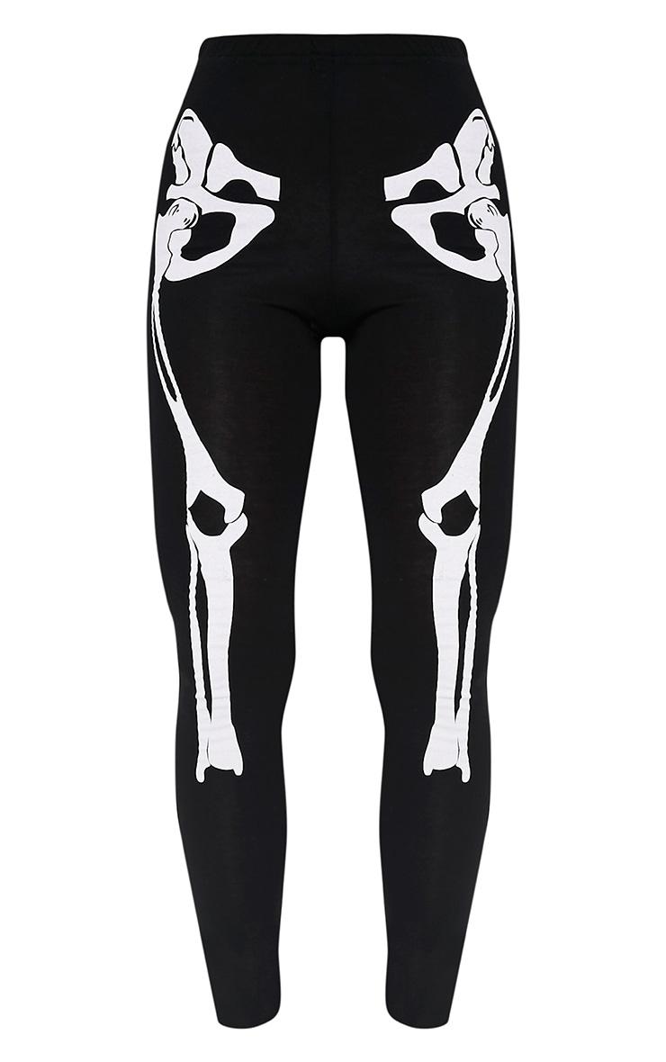 Skeleton Black Print Leggings 3