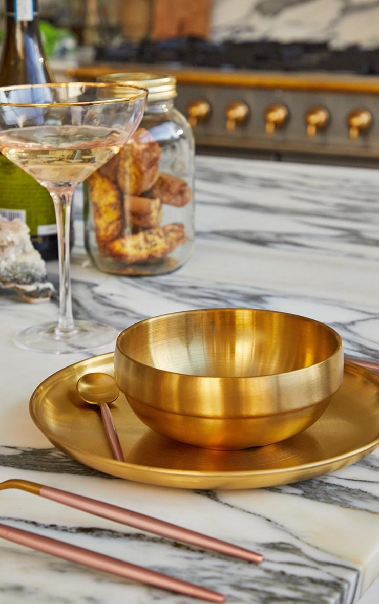 PLT Home - Grandes assiettes dorées métallisées 1