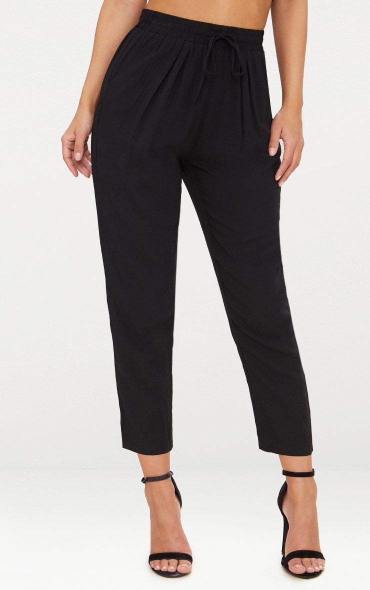 Petite Black Casual Trousers 2