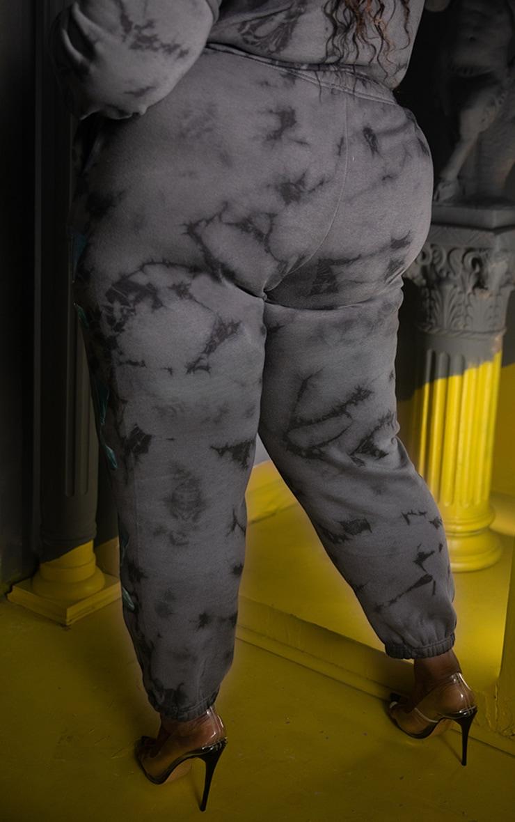 Jogging gris tie & dye imprimé statue 8