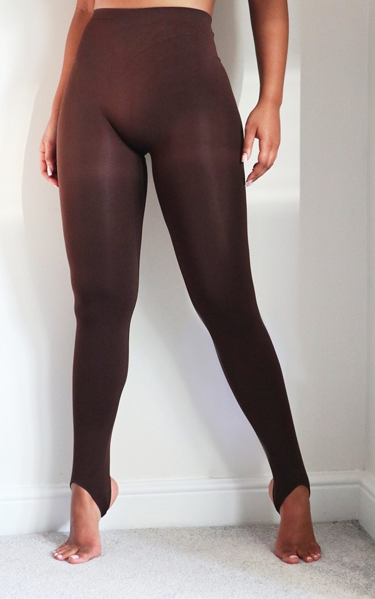 Chocolate Seamless Stirrup Leggings 2