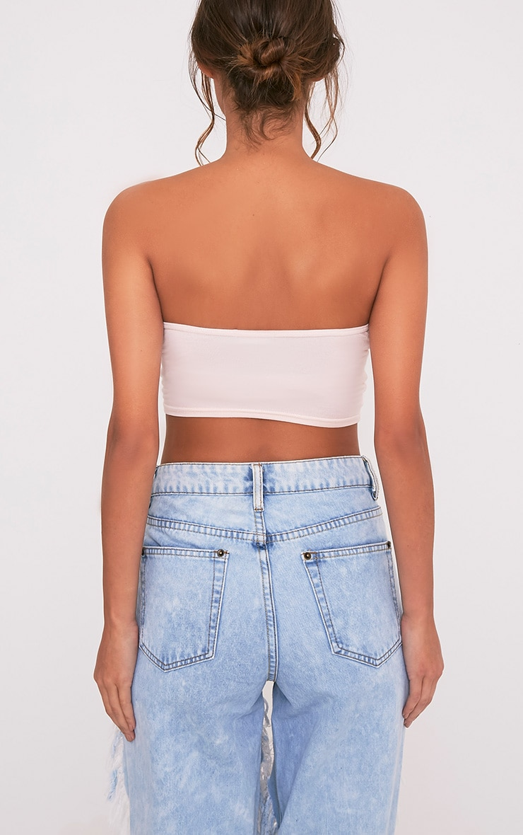 Basic Nude Ruched Bandeau Top 2