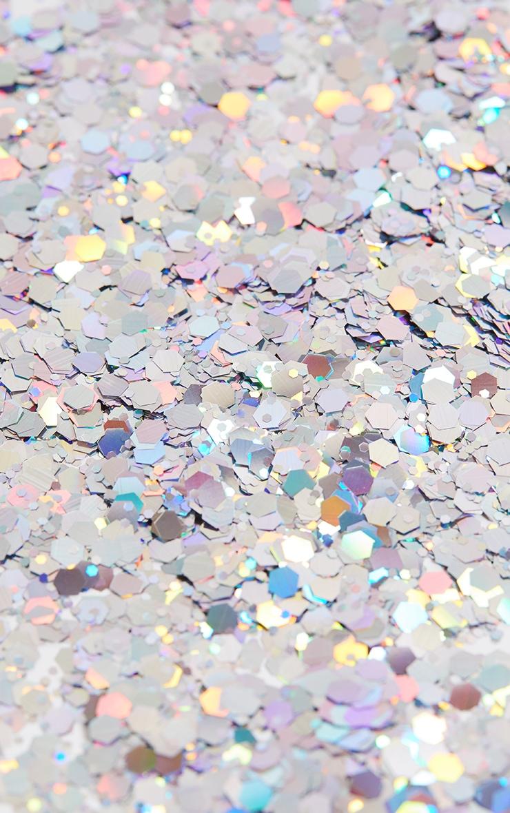 PRETTYLITTLETHING Chunky Silver Glitter Pot 4