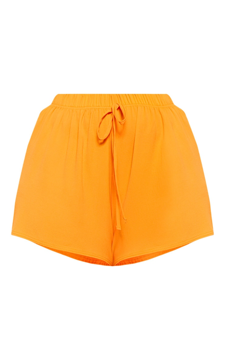 Plus Bright Orange Drawstring Shorts  3