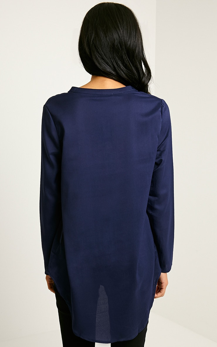 Caia Navy Oversized Shirt 2