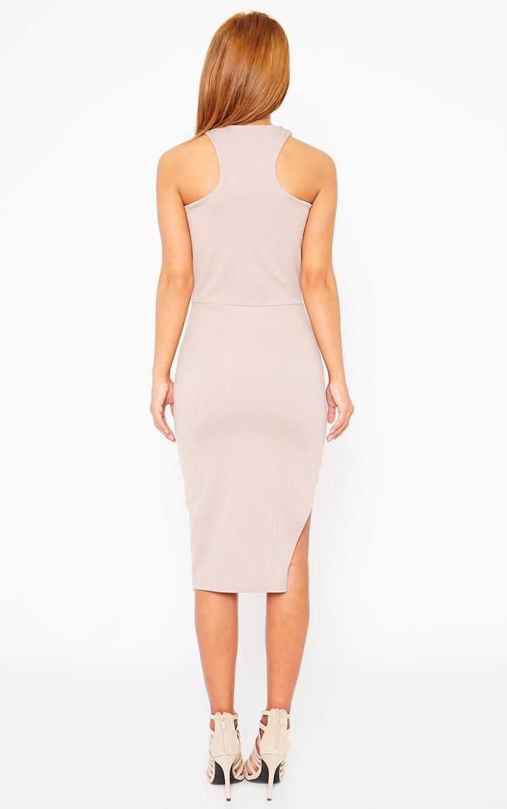 Sydney Mauve Cut Out Curve Split Dress 2