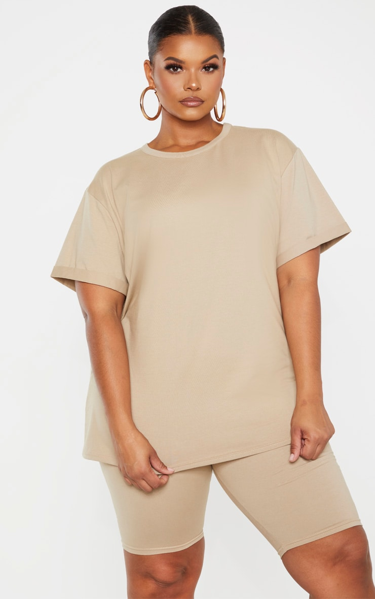 Plus Stone Oversized T Shirt  1