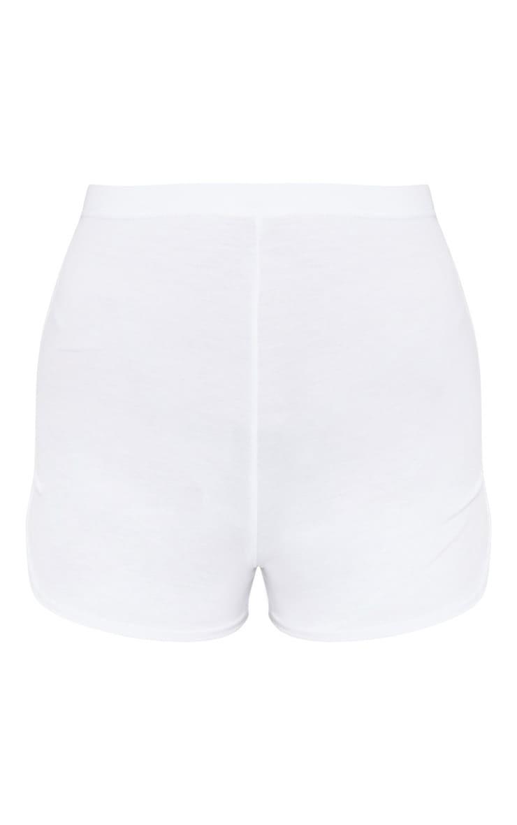 Basic White High Waist Short 7