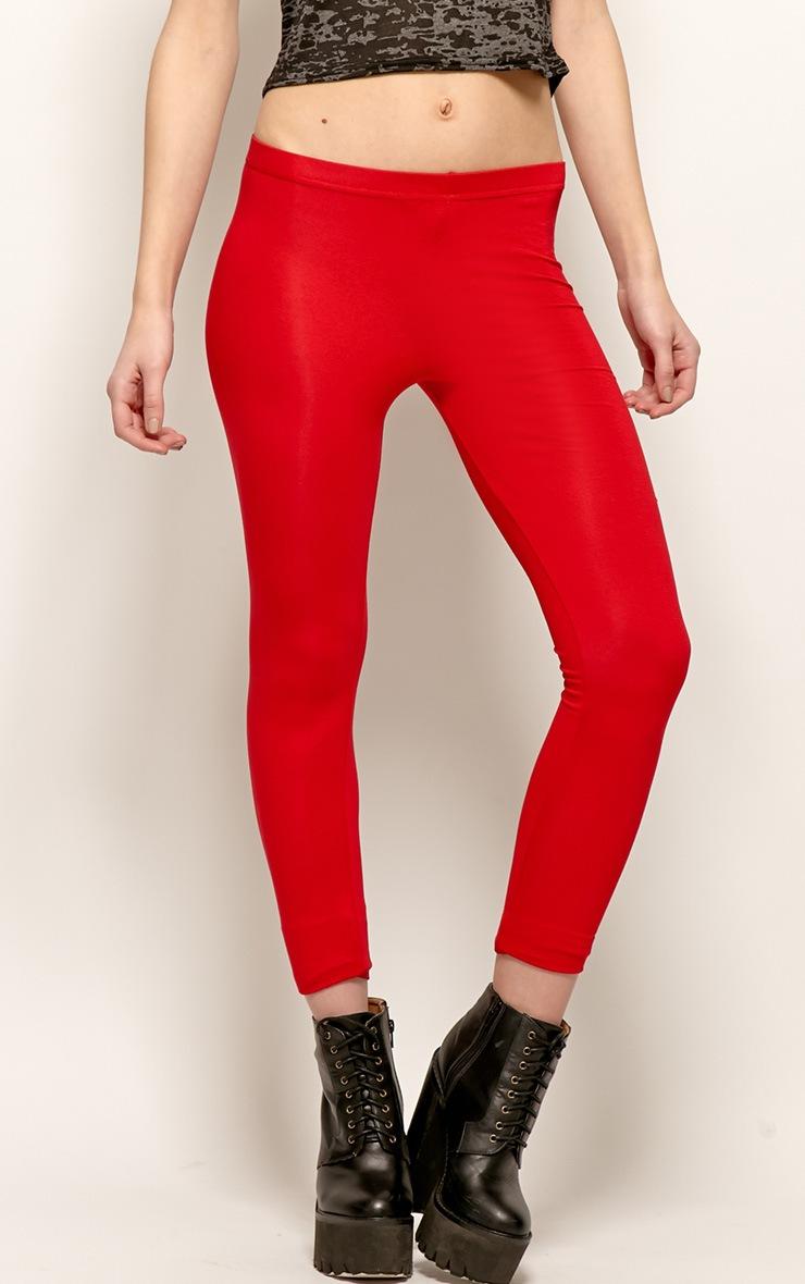 Sofie Red Jersey Leggings 4