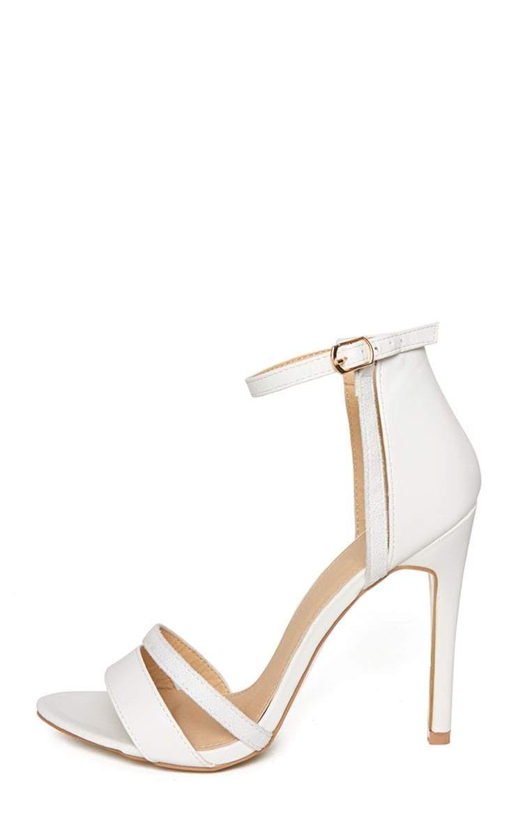 Cassia White Strap Heeled Sandals 4