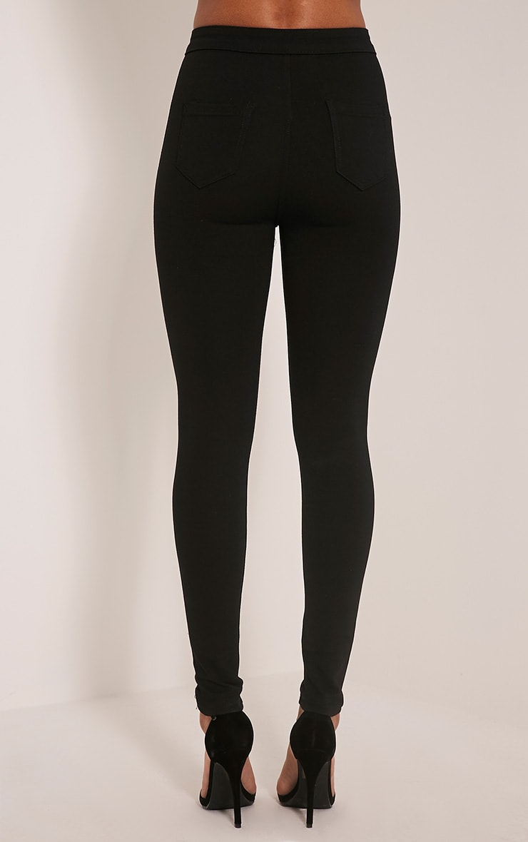 Serinna jeggings noirs taille haute 5