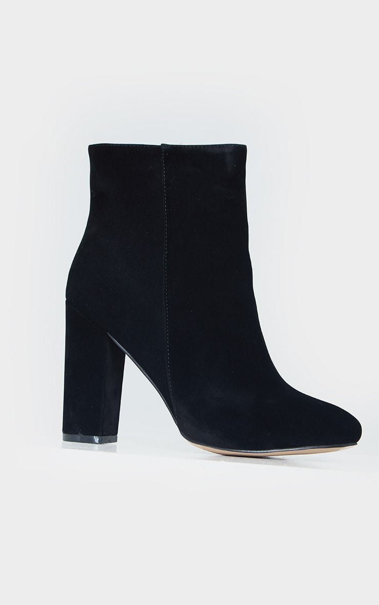 Black Wide Fit Behati Block Heeled Ankle Boot 3