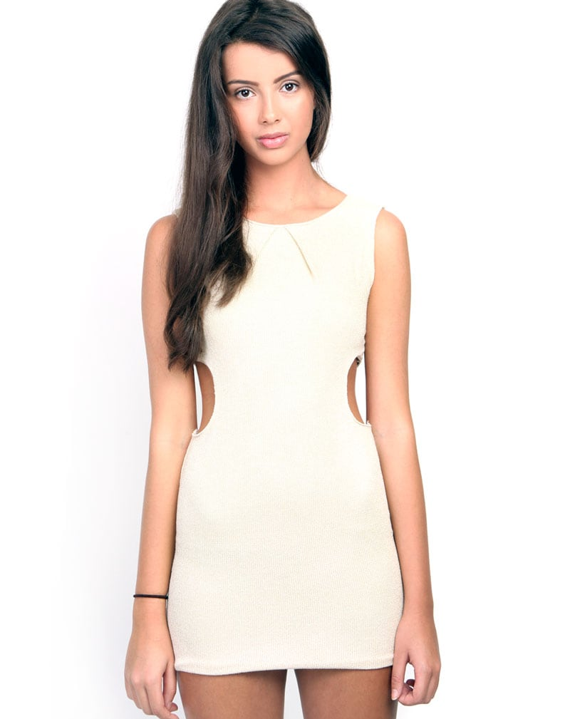 Sylvia Cream Cut Out Dress 1