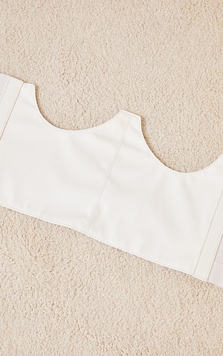 White Cut Out Corset Belt 3