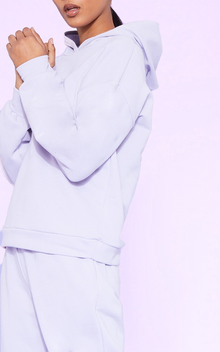 RECYCLED Pale Violet Oversized Hoodie 6