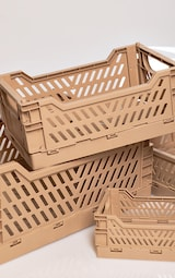 Stone Stackable Storage Crate Multi Pack 4
