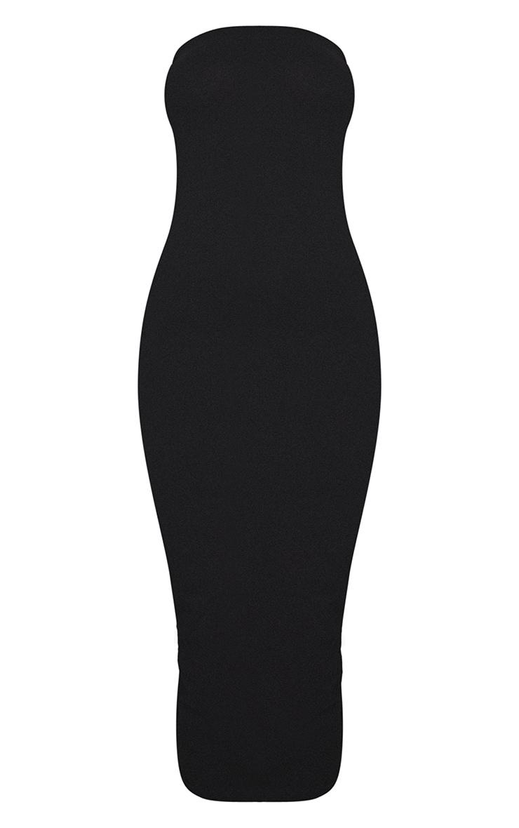 PLT Essentiel - Longue robe bandeau noire basique 5