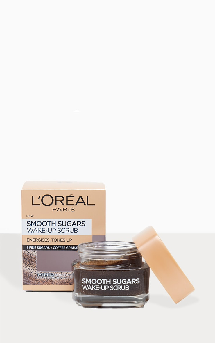 L'Oreal Paris Smooth Sugar Wake-Up Coffee Face and Lip Scrub 50ml 2
