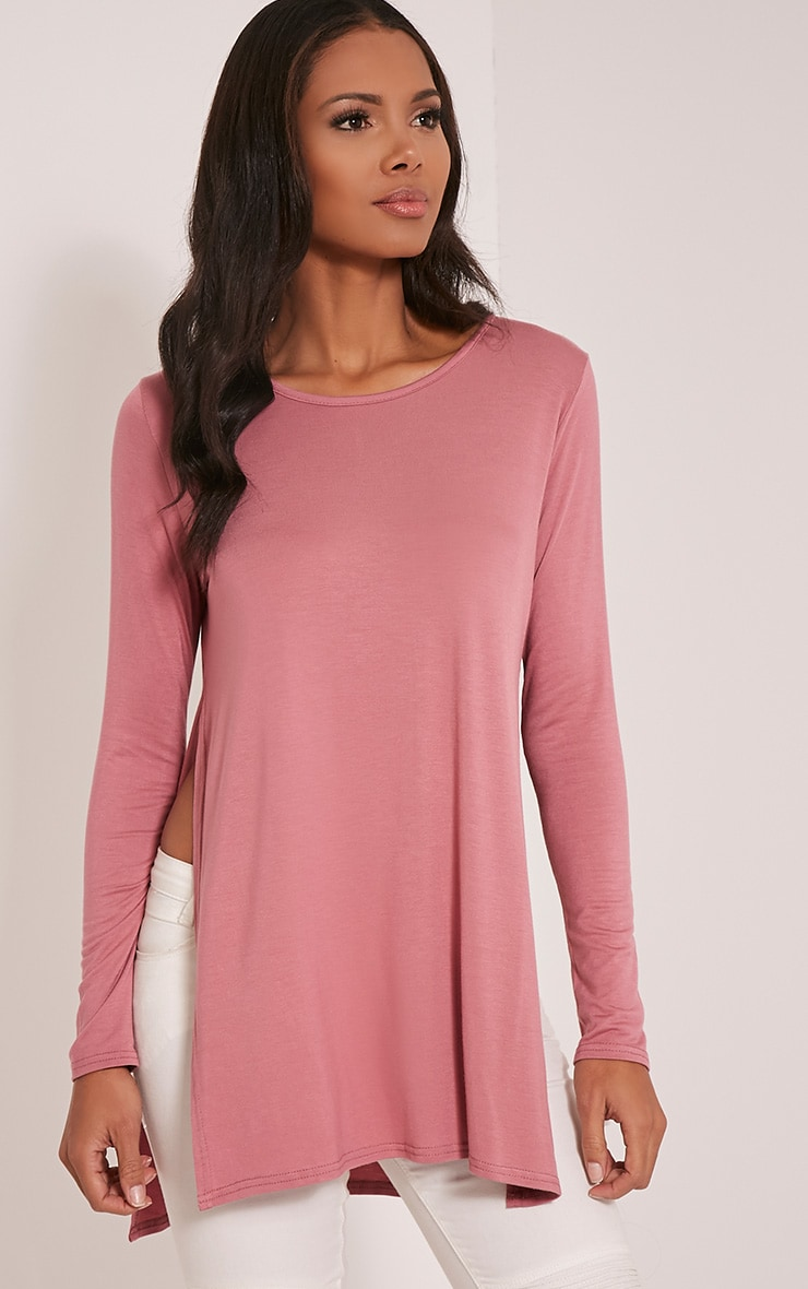 Tamsyn Rose Long Sleeve Side Split Top 1