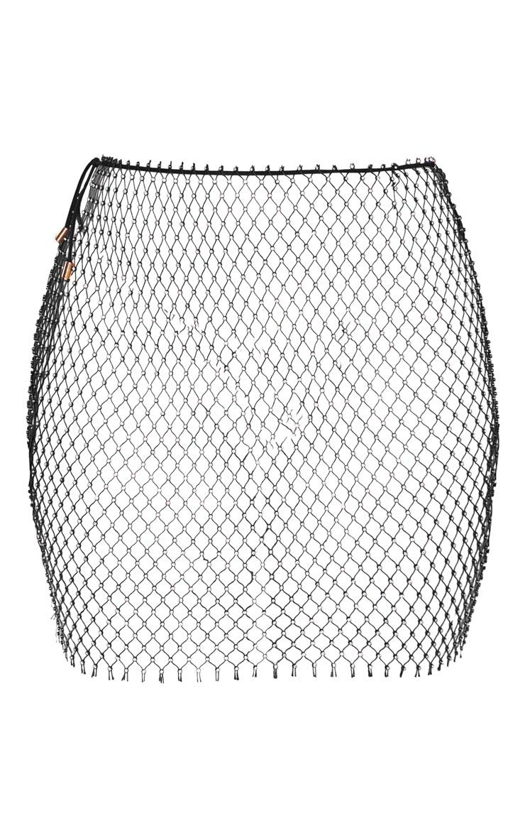Black Diamante Net Skirt Body Jewellery 3