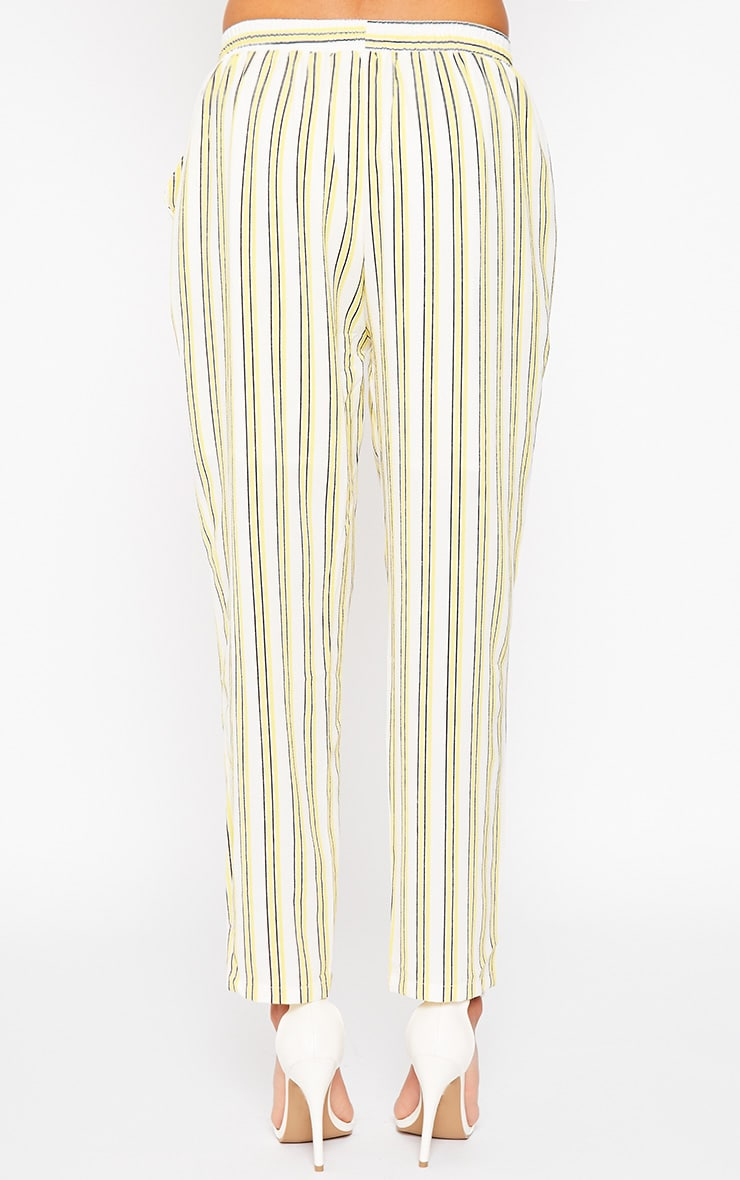 Kali Cream Stripe Trousers 4