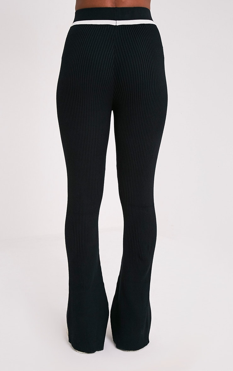 Sufiya Mono Colour Block Knit Ribbed Trousers 5