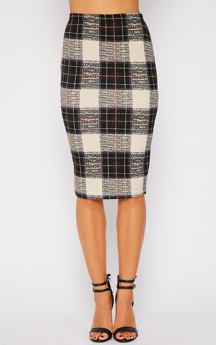 Avelyn Checked Midi Skirt  3