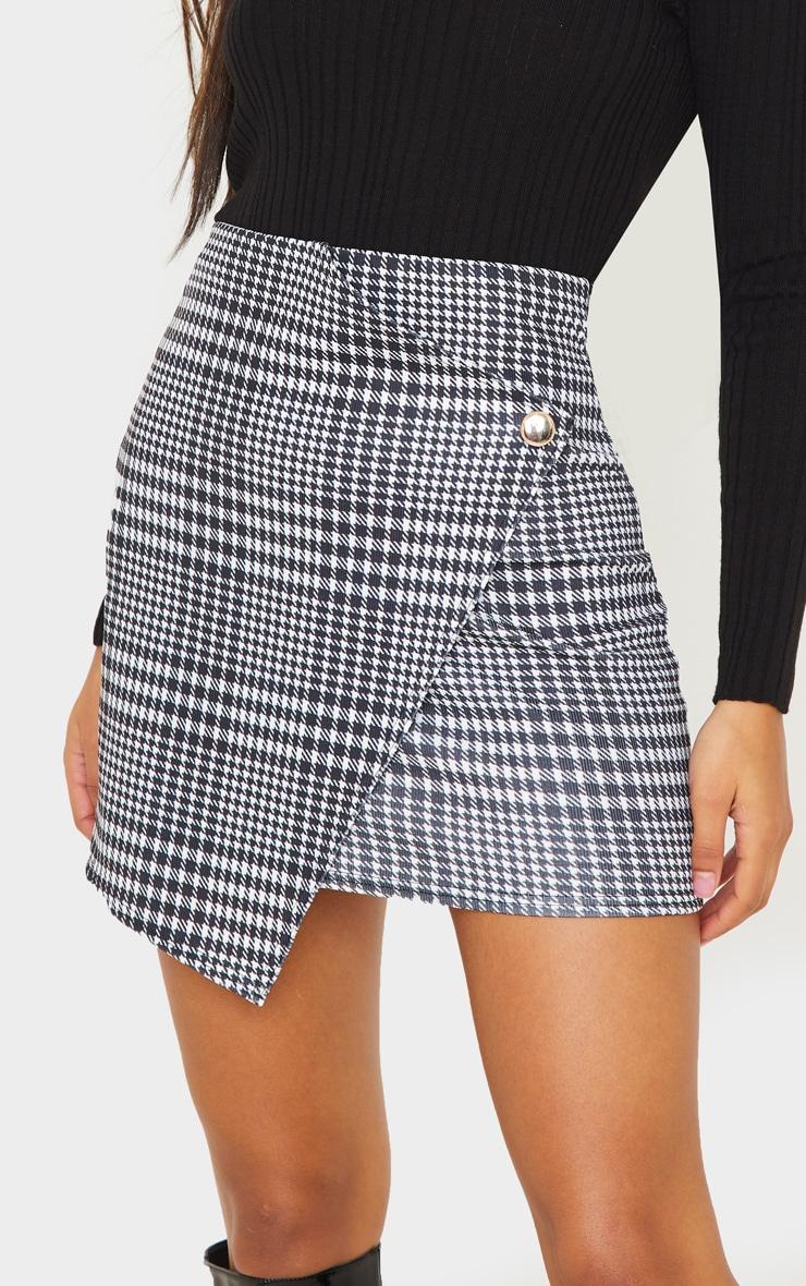 Monochrome Check Wrap Mini Skirt 6
