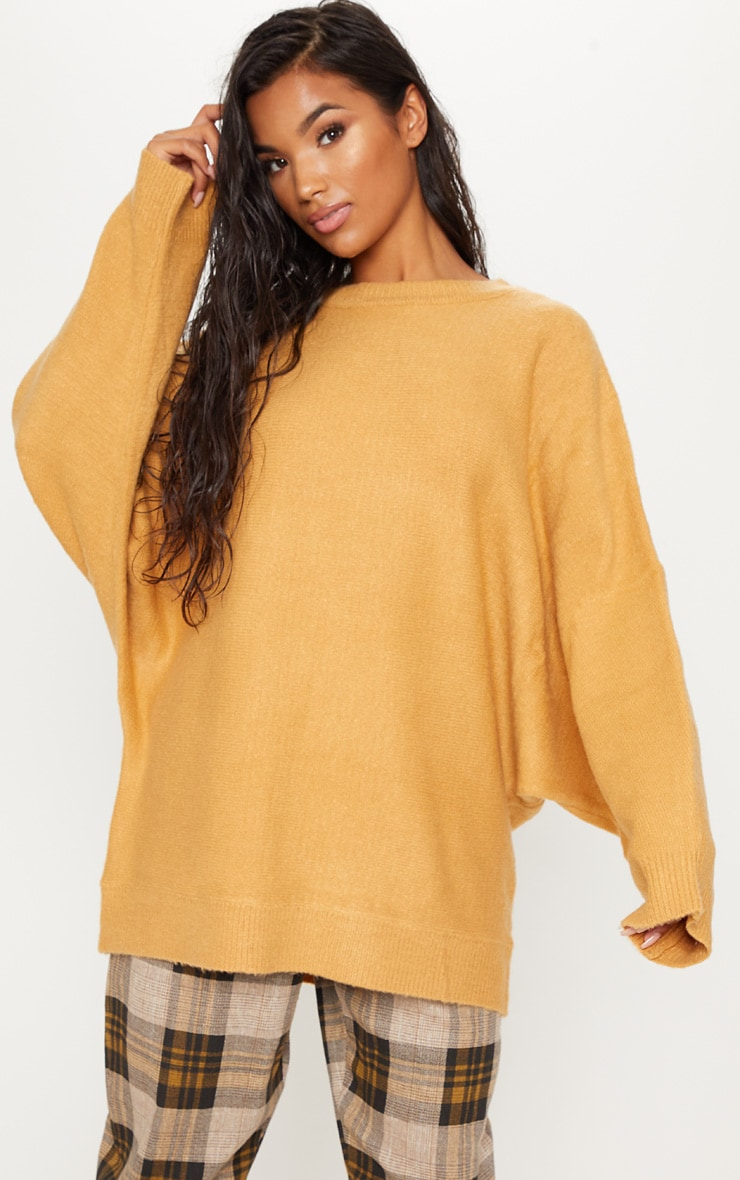 Camel Knitted Jumper 1