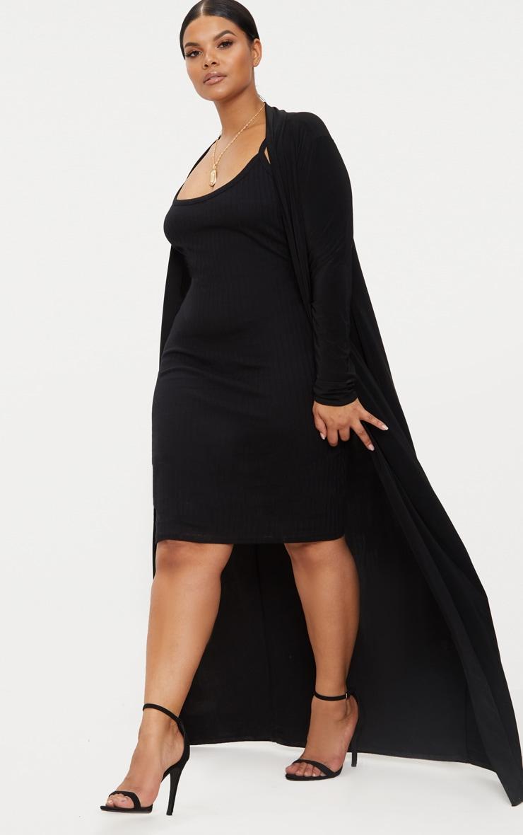 PLT Plus - Longue veste noire 4