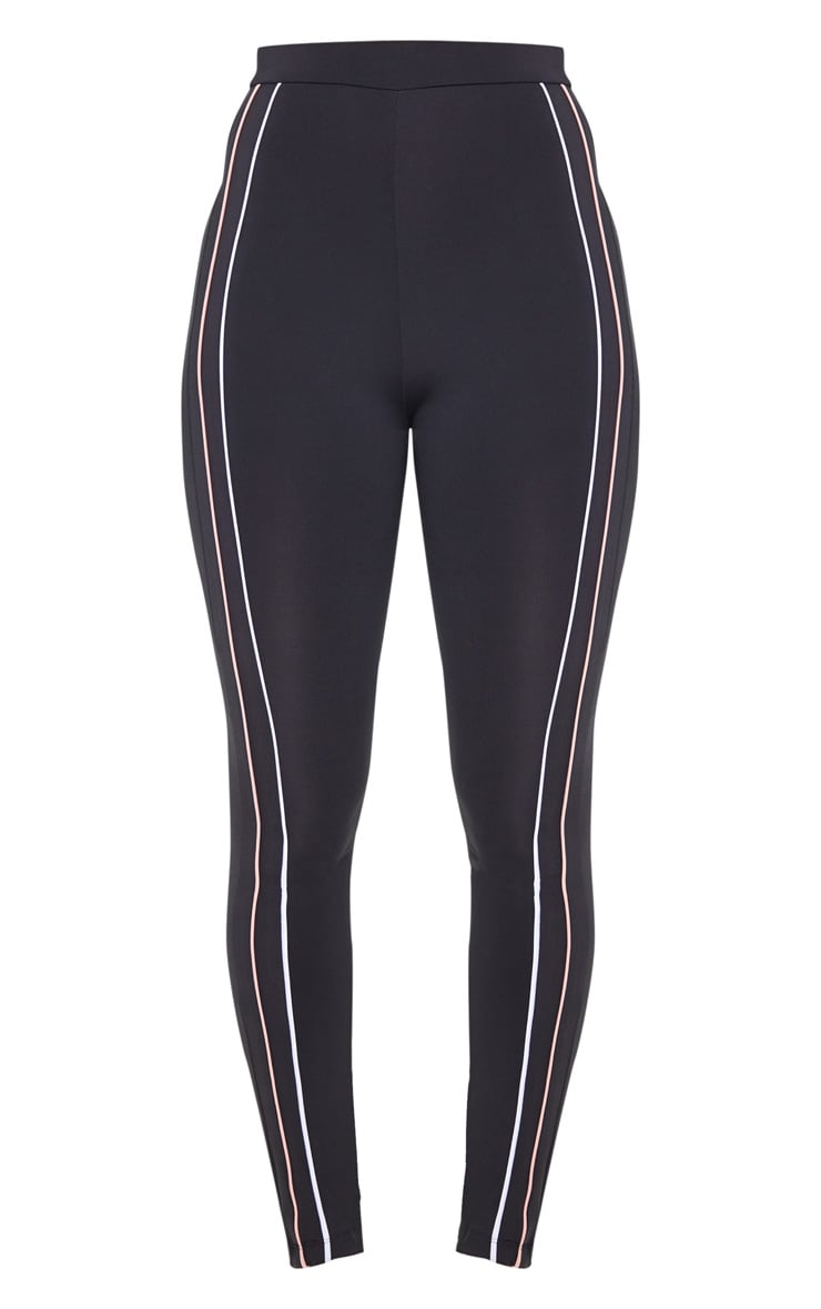 Black Side Stripe Gym Legging 3