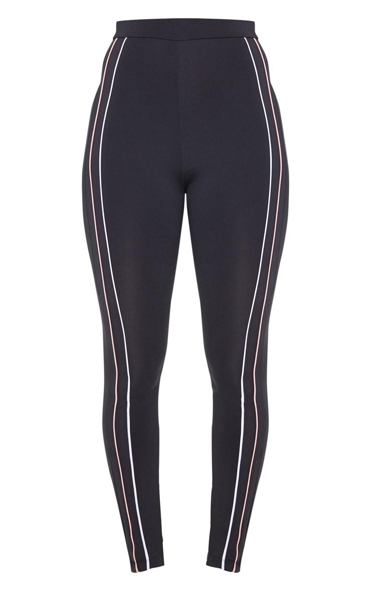 Black Side Stripe Gym Legging 3