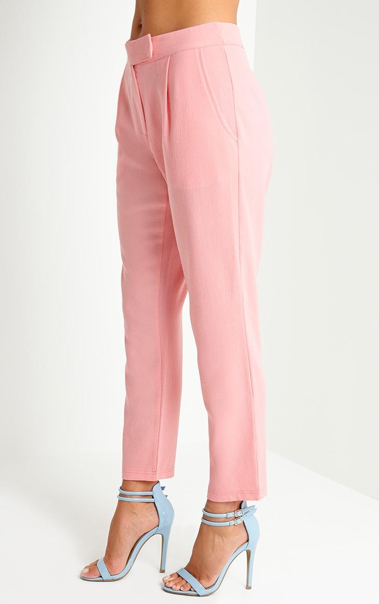 Lyndi Pink Crepe Trousers 3