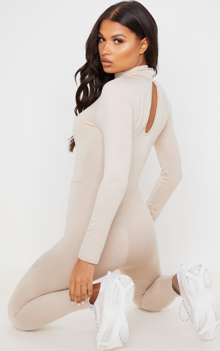 Stone Roll Neck Long Sleeve Jumpsuit 3