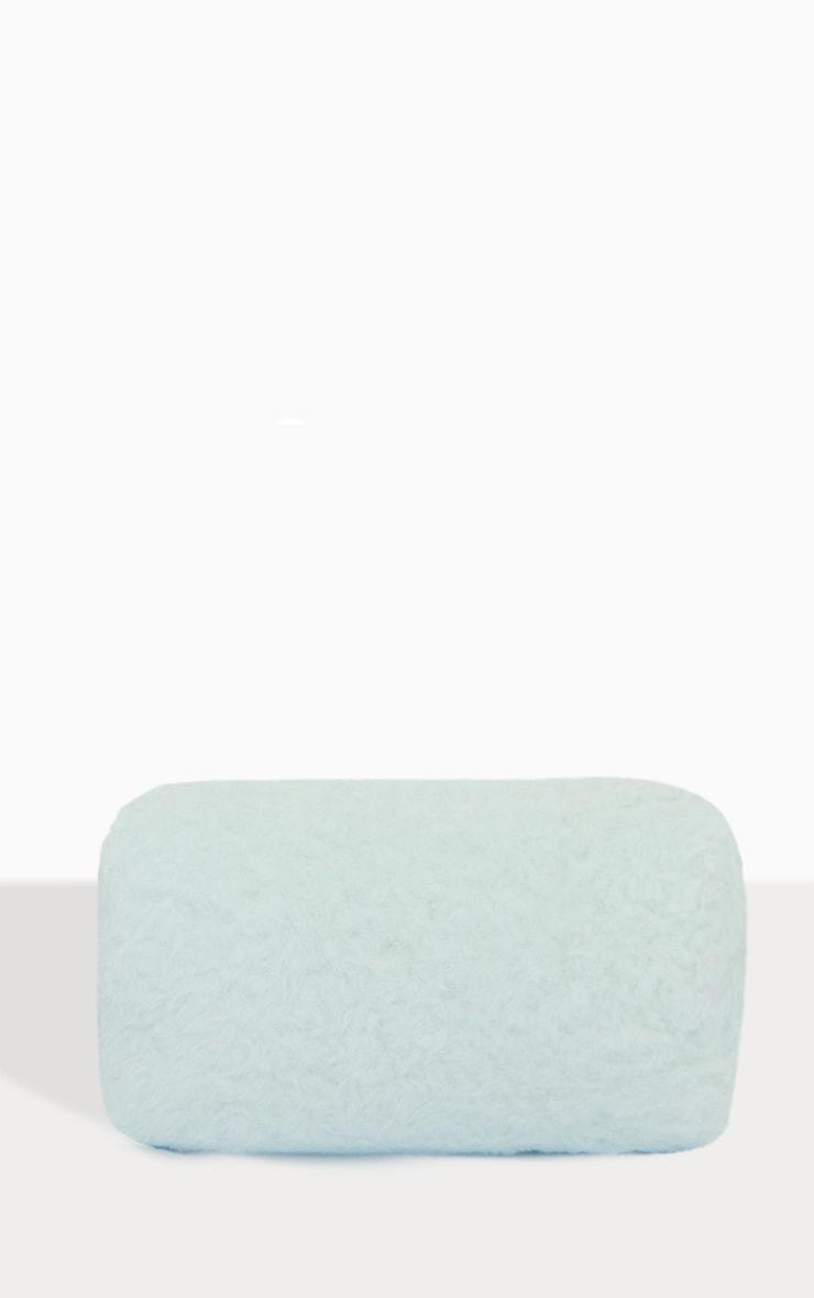 PRETTYLITTLETHING Mint Faux Fur Make Up Bag 2