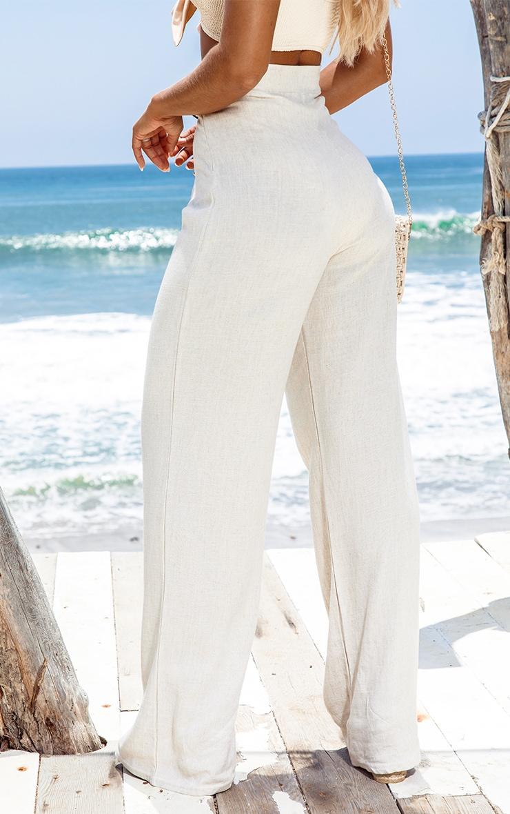 Sand Belt Detail Wide Leg Pants 3