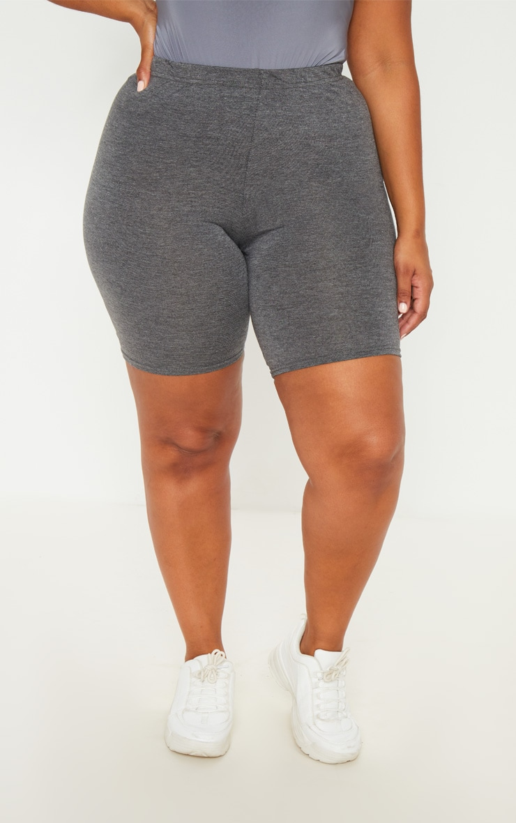 Plus Charcoal Basic Cycle Shorts 2
