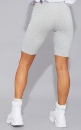 Basic Grey Cotton Blend Cycle Shorts 3
