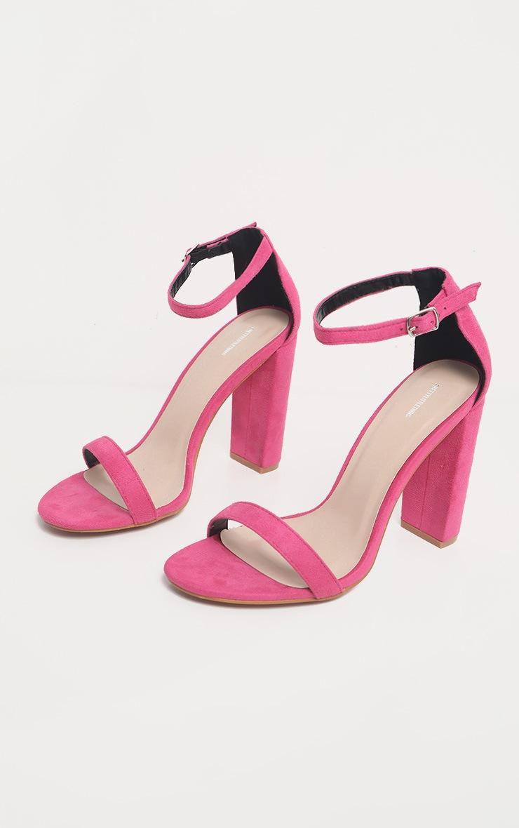 Fuchsia May Blocked Heel Sandal 3