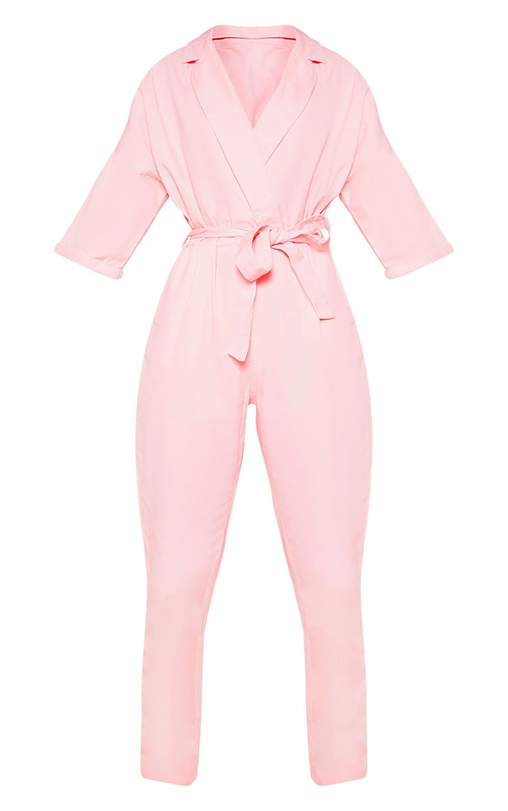 Dusty Pink Denim Utility Jumpsuit 3
