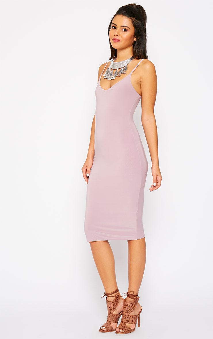 Harpe Mauve Slinky Midi Dress 4