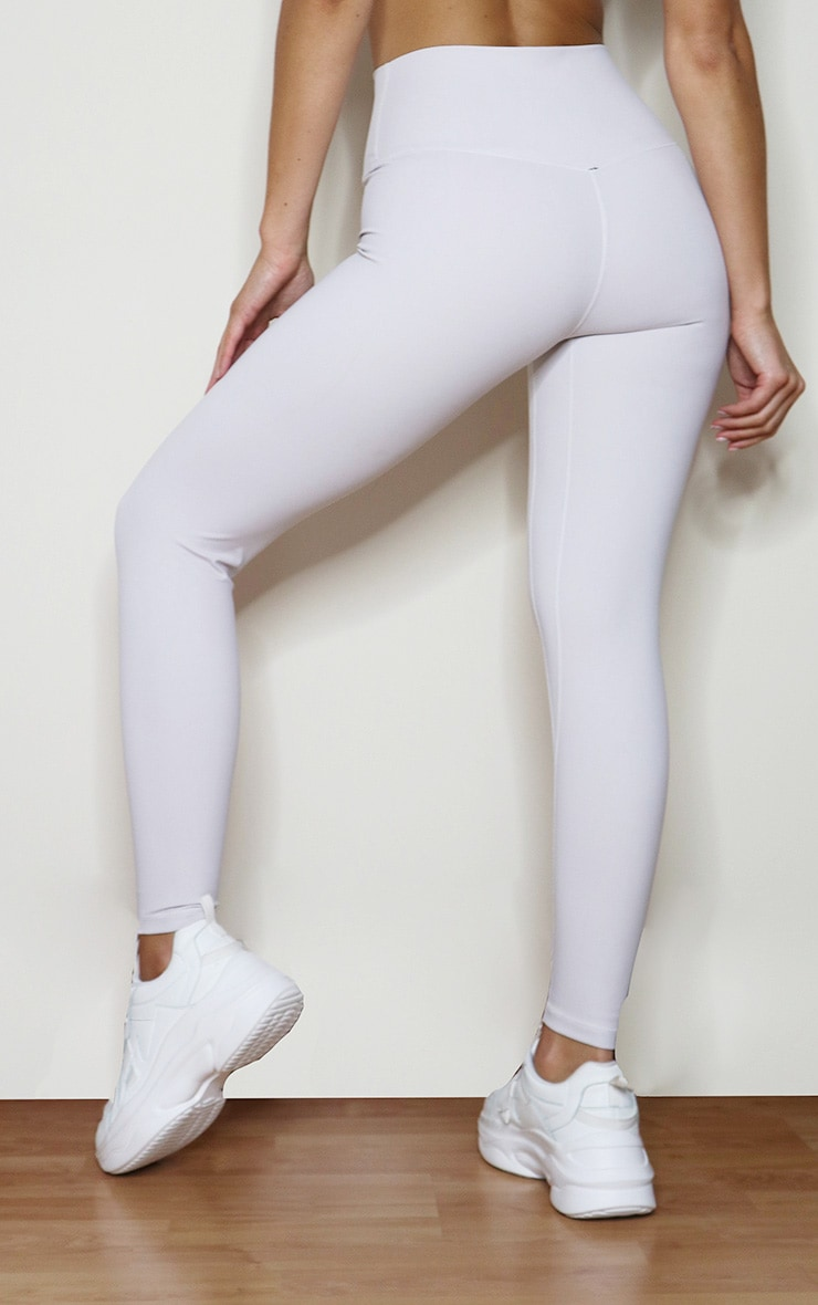 Light Grey Sculpt Luxe High Waist Gym Legging 3