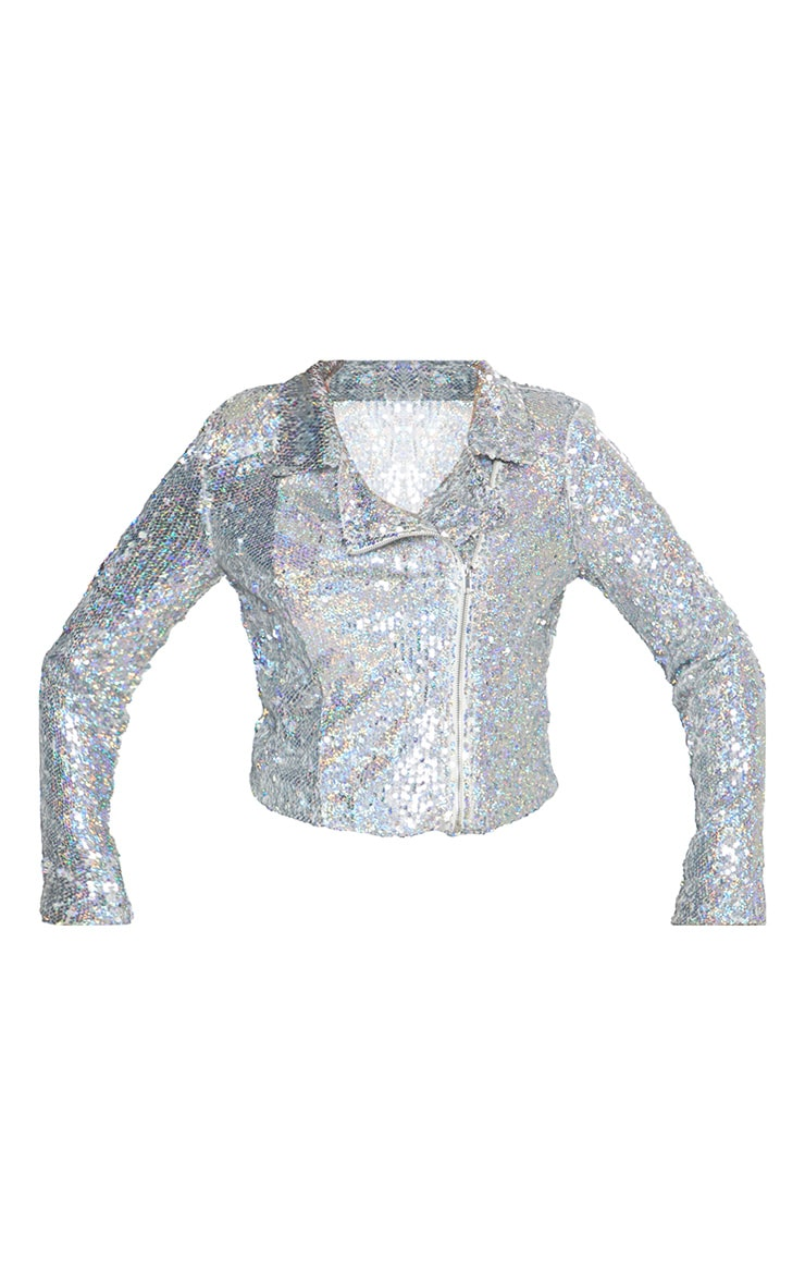Sequin Biker Jacket 4