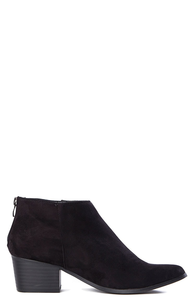Rissa Black Pointed Suede Ankle Boots 6