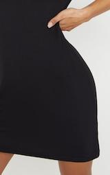 Basic Black Short Sleeve T Shirt Dress 5